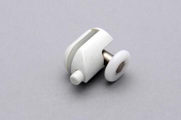 Shower accessories white single bottom wheel