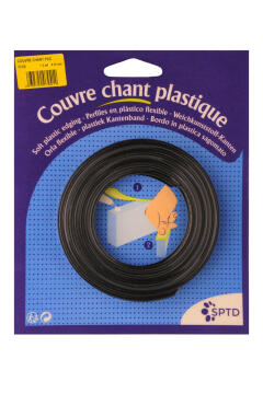 Edging PVC Flexible Black-16mmx2M
