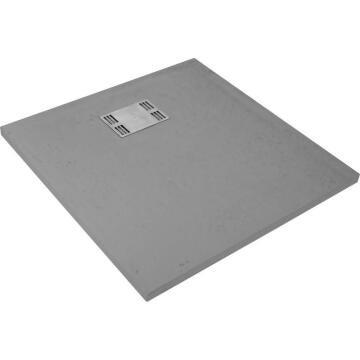 Shower tray square SENSEA Slate grey 90X90CM