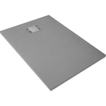 Shower tray rectangle resin SENSEA Slate grey 120X90CM