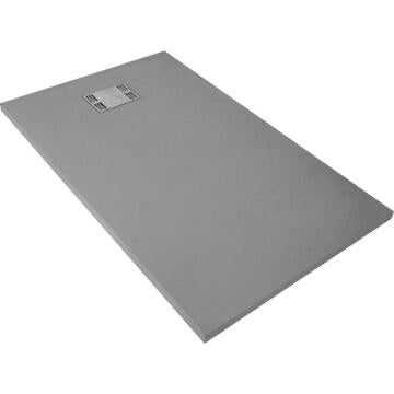 shower tray rectangle resin SENSEA Slate grey 140X90cm