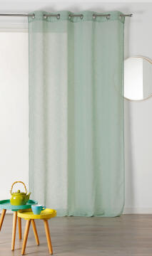 CURTAIN LIUM GREEN 140X240CM