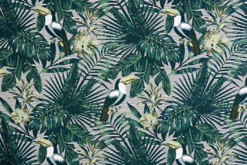 CURTAIN TOUCAN GREEN 135X250CM