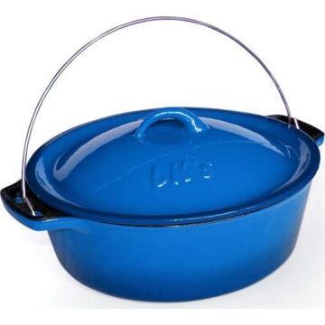 Lk'S Pot Bake 2 (5.0L) (C/I)Blue Enamel