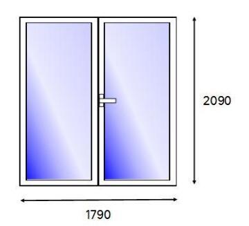 PATIO DOOR PVC WH FULL SG R 1821
