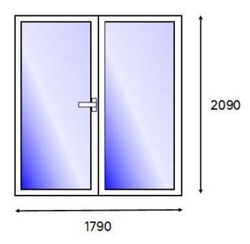 PATIO DOOR PVC WH FULL SG L 1821