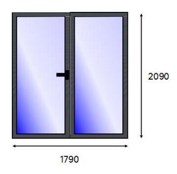 PATIO DOOR PVC CHAR FULL SG L 1821