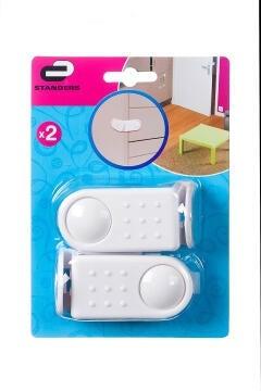 DOOR ANGLE PLASTIC LOCK WHITE STD 2P