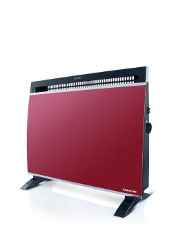 Convection heater TAURUS glass red 1500w