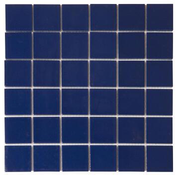 MOSAIC CERAMIC DARK BLUE 48MM 300X300