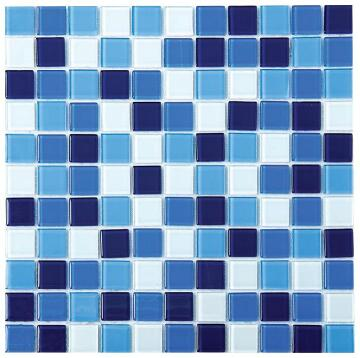 Mosaic Glass Blue Mix 4Mm 300X300