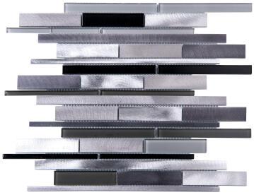 Mosaic Glass/Aluminium Grey Mix 300X310
