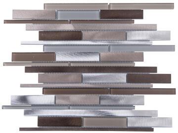 Mosaic Glass/Aluminium Brown Mix 300X310