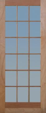 Patio Door Engineered Hardwood 18 Light Double-w1613xh2032mm