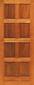 Service Door Mixed Timber 8 Panel Stable-w813xh2032mm