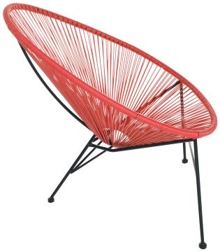ACAPULCO RED EGG CHAIR