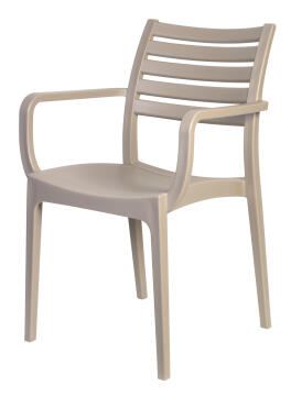 Sienna Armchair Solid Seat/Slatted Back