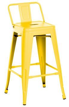 SOHO YELLOW STOOL 66CM HIGH W/ BACKREST