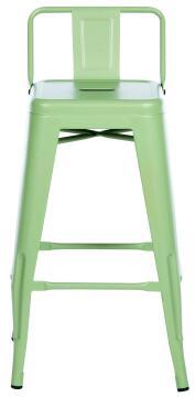 SOHO GREEN STOOL 66CM HIGH W/ BACKREST