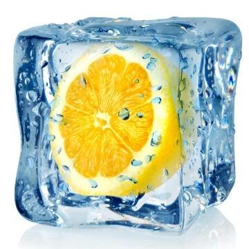 DECO GLASS 20X20 ORANGE ICE CUBE