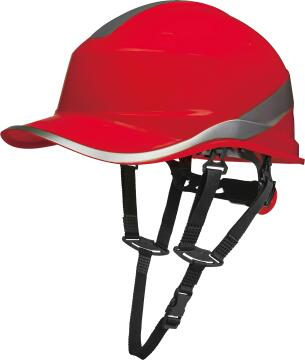 SAFTETY HAT BASEBALL SHAPE RED