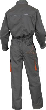Work Overal Deltaplus 2 Zip Detail Grey & Orange Size 3Xlarge