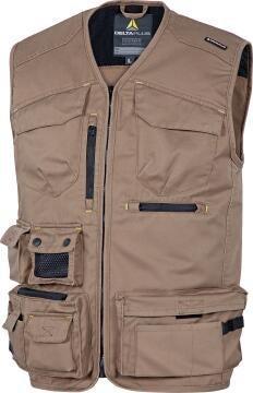 Work Vest DELTAPLUS Spring Beige Size
