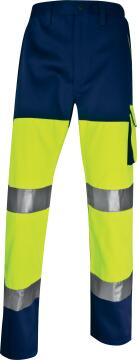 Work Pants Deltaplus High Visibility Fluorescent Navy Size Medium