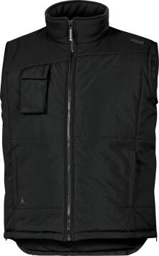 Work Vest Deltaplus Body Warmer Waterproof Black Size Xlarge