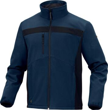 Work Jacket Deltaplus Softshell Navy & Black Size 3Xlarge