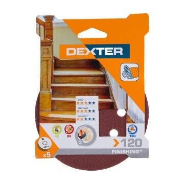 HOLE SAND DISC WOOD G120 DEXTER 5PC D125
