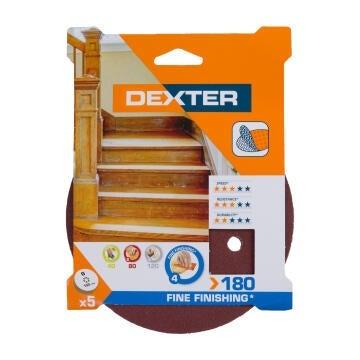 HOLE SAND DISC WOOD G180 DEXTER 5PC D150