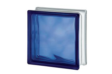 Glass Block Dark Blue Wave