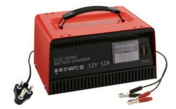 12AMP BATTERY CHARGER-METAL CASE