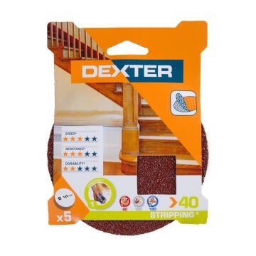 SANDING DISC WOOD G40 DEXTER 5PC D125