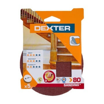 SANDING DISC WOOD G80 DEXTER 5PC D125