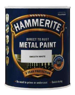 HAMMERITE HAMMERED WHT 5L