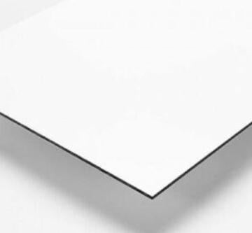 Synthetic Glass Aluminium Composite Panel Silver/White 3mm thick-3050x1500mm