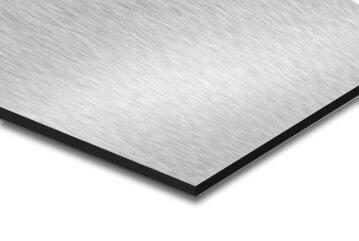 Synthetic Glass Aluminium Composite Panel Brushed Aluminium 3mm thick-3050x1500mm