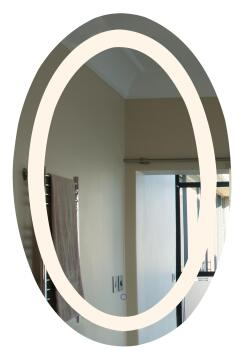 Led 22w dimmable oval mirror