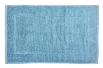 Bath mat woven rectangle cotton Sensea Terry blue 50X80CM