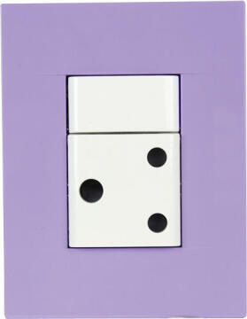 SOCKET 1X3PIN 2X4CHORUS PURPLE