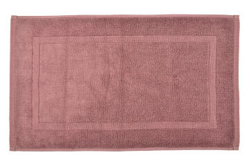 Bath mat woven rectangle cotton Sensea Terry maroon 50X80CM