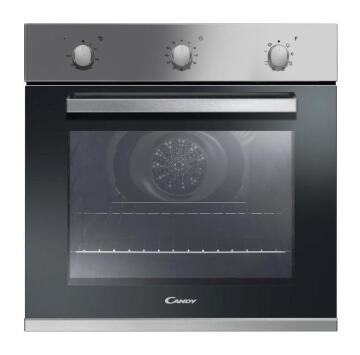 Electric Oven CANDY 60cm - 3 Knobs - 8 Functions - Inox - Fan