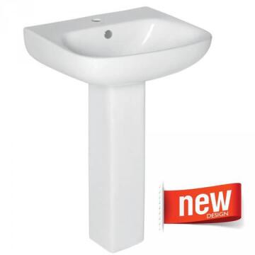 Basin SOLO with full pedestal BERMUDA
