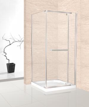 Shower corner entry pivot square CANNES chrome square 100x100x185CM