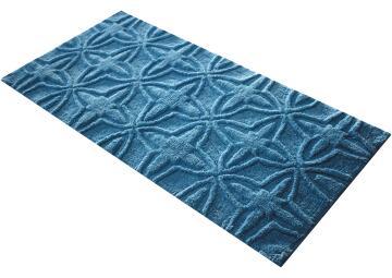 Bath Mat Cotton SENSEA Royal blue 120x60cm