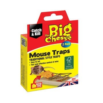 Big cheese mouse trap twinpack