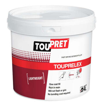 Toupret exterior f / drying l / weight filler 4 liters