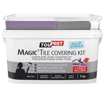 Toupret easy coating kit for tiles 5kg